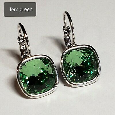 Leverback Earrings made with 8 mm SWAROVSKI CRYSTAL ELEMENTS