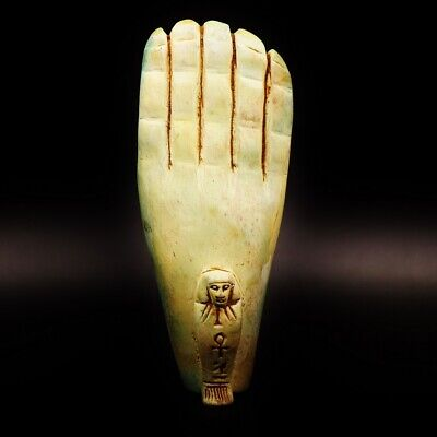 Rare UNIQUE Antique Ancient Egyptian Hand Faience Statue Figure..Large