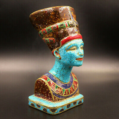 Rare Egyptian Antique Statue Of Queen Nefertiti Mask..xx-Large (Precious Stones)