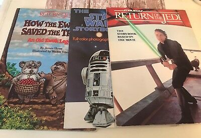Vintage Star Wars Soft Cover Scholastic Book Lot eWorld Trees Jedi Lot Of 3