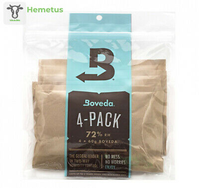 Boveda 72 Percent RH 2-Way Humidity Control, Large, 60 gram, 4-Pack 72%