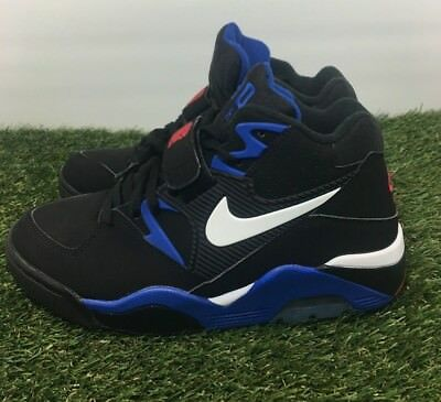 8b70472578 Nike Air Force Max 180 Basketball Shoes Barkley Black Blue 310095-011 Size  7.5