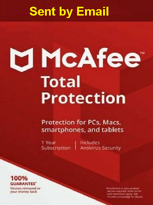 Mcafee Total Protection 2019 unlimited Device 1 Year Antivirus Download Version