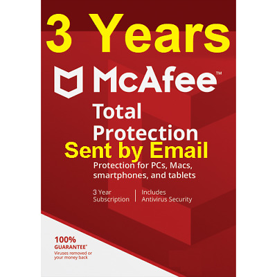 Mcafee Total Protection 2019 Unlimited Devices 3 Year antivirus Download Version
