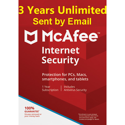 Mcafee Internet Security 2020 Unlimited Devices 3 Years 2019 Antivirus