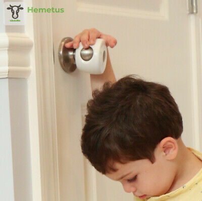 Door Knob Covers - 4 Pack - Child Safety Cover - Proof Doors by Jool...