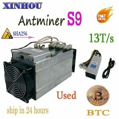 Used Btc Bch Miner Antminer S9 13T Sha256 16Nm Asic Bitcoin Miner More Economica