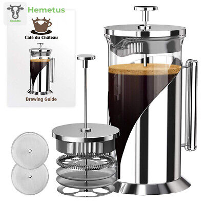 French Press Coffee Maker (8 cup, 34 oz) With 4 Level Filtration System, 304...