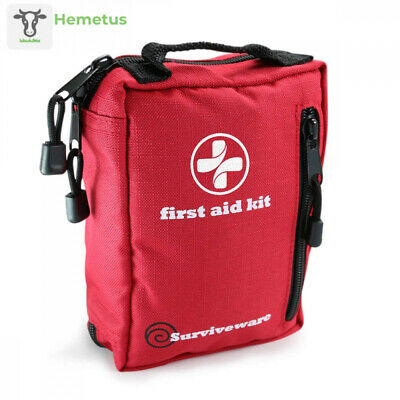 Surviveware Small First Aid Kit for Hiking, Backpacking, Camping, Travel,...