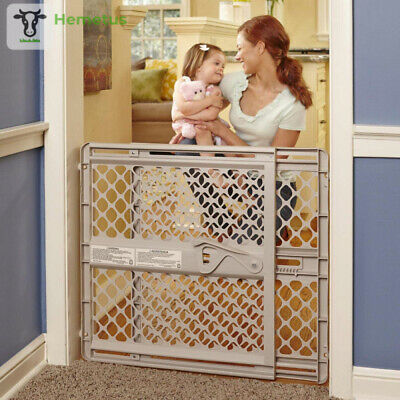 """North States 42"""" Wide Supergate Ergo Baby Gate: Easy-fit and Adjustable. Sand"""