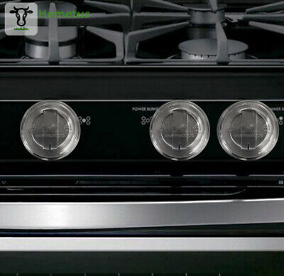Clear Stove Knob Covers (5 Pack) Child Safety Guards, Large Universal Design...
