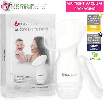 NatureBond Silicone Breastfeeding Manual Breast Pump Milk Saver 100 ml - Kit