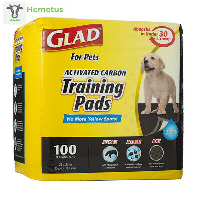 Glad for Pets Activated Charcoal Puppy Pads | Black Training Regular