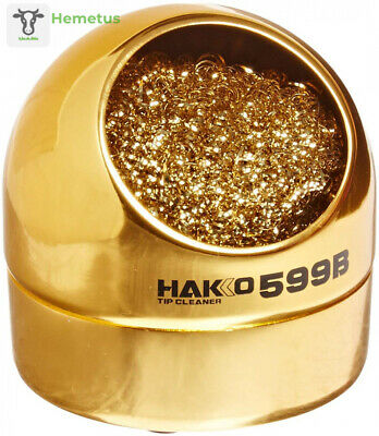 Hakko 599B-02 Wire-type soldering iron tip cleaner S, Bronze