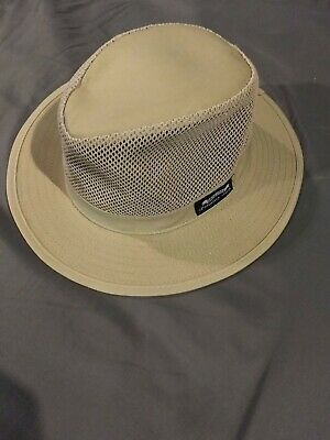 57f71e63bd7ec5 Fedora Khaki Panama Bucket Safari Style Mens Medium Tan Cream band USA.  $11.95 Buy It Now 26d 15h. See Details. Panama Jack Original Men's Sun  Fedora Hat ...