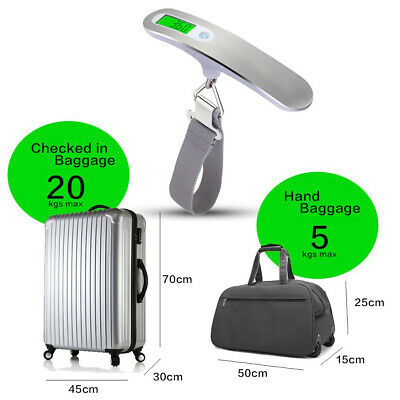 Hot Portable Handheld Luggage Weighing Scales Suitcase Bag  50Kg Digital Travel