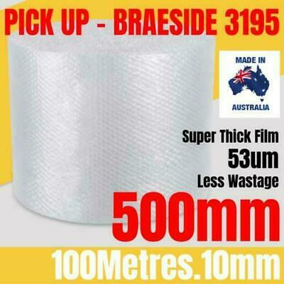 BUBBLE CUSHIONING WRAP 500mm x 100M | Clear 10mm Bubble Roll Bubble Wrap Roll