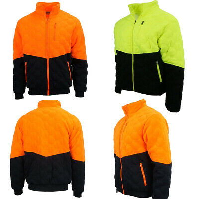 Hi-Vis Safety Winter  Warm Jacket Work Wear For Construction PPE Long Sleeves