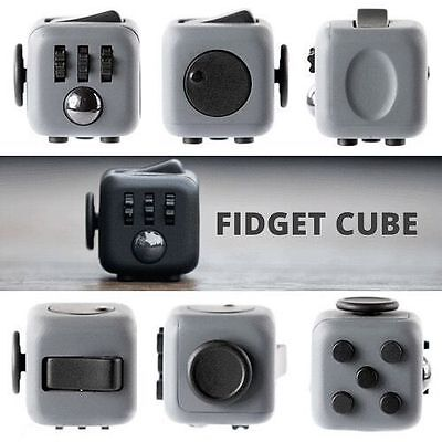 Fidget Cube Toy Stress Relief Focus For Adults Children 6+ADHD&AUTISM Xmas VO