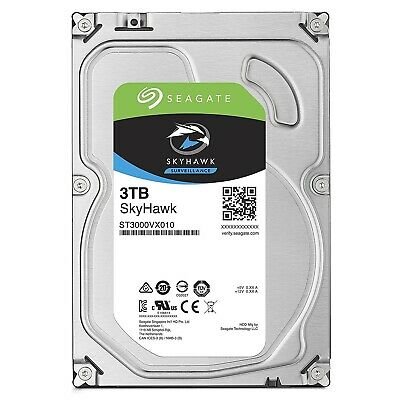 "Seagate SkyHawk 3TB 3.5"" SATA Internal Surveillance Hard Drive HDD 5900RPM 64MB"