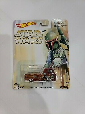 Hot Wheels 2017 Star Wars Bounty Hunter Boba Fett 60s Ford Econoline Pickup NEW
