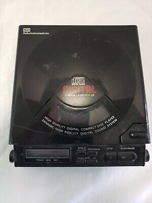 Seiko PHX-50CD Portable CD Player Discman Vintage 1990 Tested Working