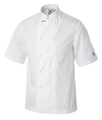 **FREE SHIPPING** Club Chef Unisex Lightweight Traditional White Chef Jacket