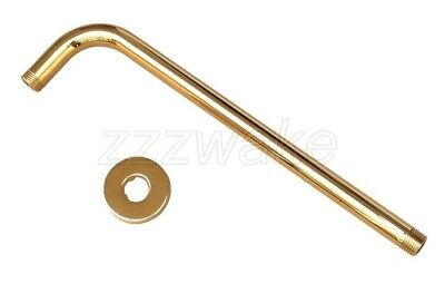 Gold Color Brass Wall Mounted Rain Shower Arm Shower Head Fixed Pipe Zsh102