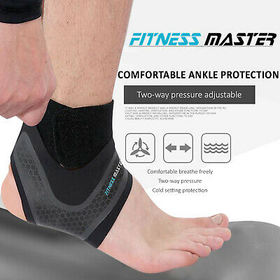 Ankle Brace Support Adjustable Elastic Foot Wrap Protector Sport Stabilizer