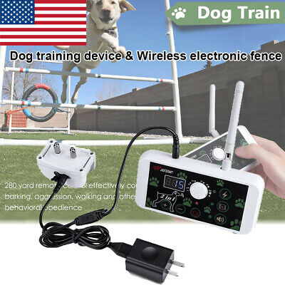 2-in-1 Wireless Dog Fence No-Wire Pet Containment System Rechargeable&Waterproof