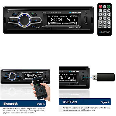 Blaupunkt Car Stereo Media Receiver USB AUX Radio Audio Bluetooth Enabled LCD