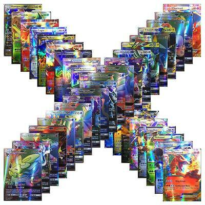80/100pc Pokemon TCG Cards Bulk Lot MEGA PACK- EX/GX/ENERGY CARD Collection Game