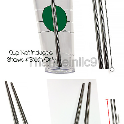 Vacuum Flasks & Mugs Food & Kitchen Storage 2 Venti Stainless Steel CocoStraw Replacement Straws 2qty For Hot & Cold