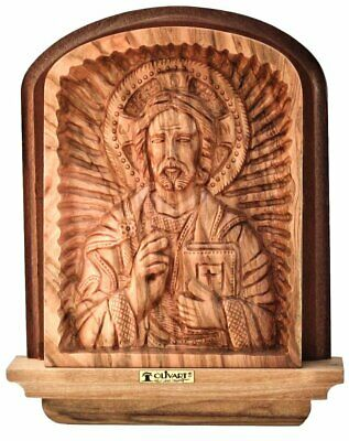 Jesus Christ Pantocrator Christian Orthodox Icon Olive Wood Holy Land