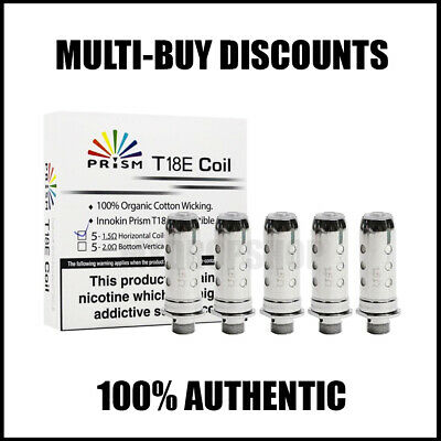 5x INNOKIN ENDURA T18E /T22E PRISM COILS Replacement Heads 1.5ohm AUTHENTIC