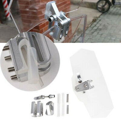 Universal Adjustable Motorcycle Clip-On Windshield Extension Spoiler Screen New