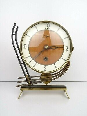 ORFAC Mantel Shelf Clock Vintage DUTCH Retro 8 day (Junghans Kienzle era)