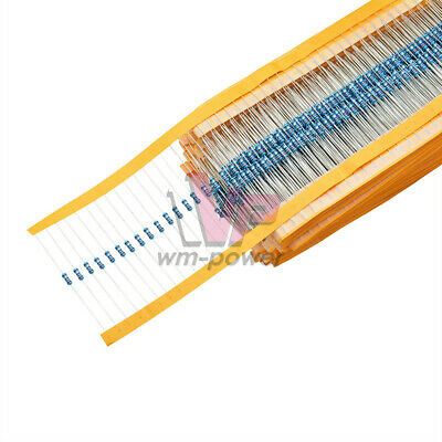 100PCS 1/4W 0.25W ±1%- Range of Values 0Ω to 10MΩ/Ohm Metal Film Resistor