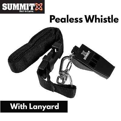 Summit Pealess Sports Whistle w Lanyard Professional Referee Match Training