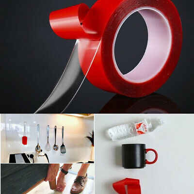 Acrylic Double Sided Red Foam Sticky Tape Roll Adhesive Super Strong Clear Tape