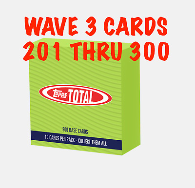 2019 Topps Total Wave 3 - Singles Cards 1 To 100 Pick Your Cards Combined Ship