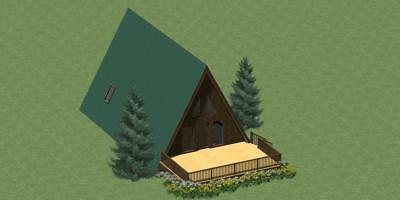 Energy Efficient A-Frame House/Vacation Cabin Plans
