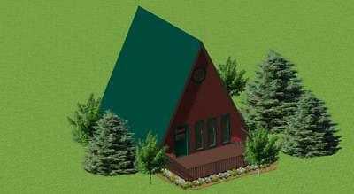 Small Energy-Efficient A-Frame Cabin Plans