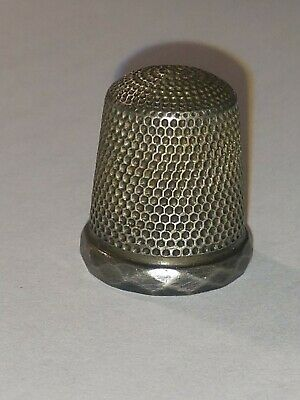 ANTIQUE STERLING SILVER THIMBLE By SIMON'S BROTHERS, PA    #1