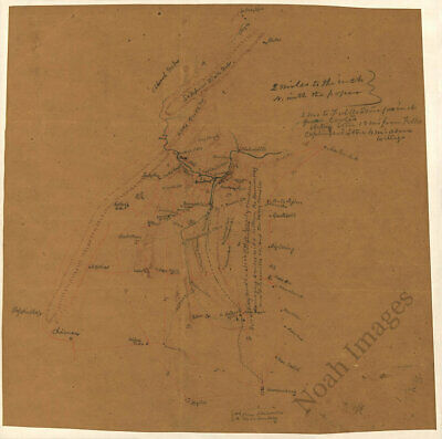 Map of Rockingham and Shenandoah counties Virginia c1860s 15x15