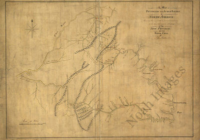 Seat of War in North America c1812 map 36x24