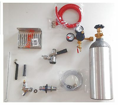 Refridgerator Kegerator Conversion Beer Kit tap Handle Faucet Gas Tank Shank