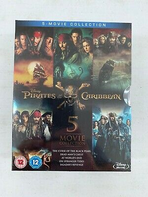 Pirates of the Caribbean: 5-Movie Complete Collection [Blu-ray Region Free] NEW