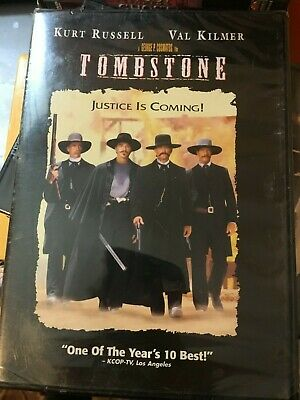 Tombstone (DVD) Kurt Russell, Val Kilmer, Sam Elliott, Charlton Heston NEW