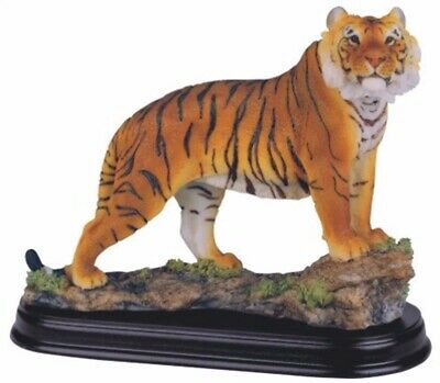 Nature Bengal Tiger Collectible Statue Jungle Wild Animal Decoration Figurine